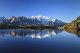 Mont Blanc  Top of Europe  Reflected During Sunrise in Lac Es Cheserys