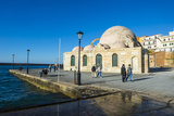 Mosque of the Janissaries  in the Venetian Port of Chania  Crete  Greek Islands  Greece  Europe