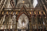 Quire Seen Through the Skidmore Screen  Lichfield Cathedral  Staffordshire  England  United Kingdom