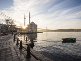 Exterior of Ortakoy Mosque and Bosphorus Bridge at Dawn  Ortakoy  Istanbul  Turkey