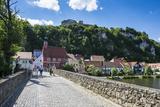 Kallmuenz Castle Above Medieval Houses in the Center of Kallmuenz on the Naab  Bavaria  Germany