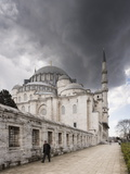 Exterior of Suleymaniye Mosque  Istanbul  Turkey