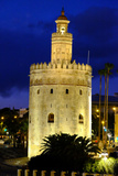 Torre Del Oro (Gold Tower)  Museo Naval  Seville  Andalucia  Spain