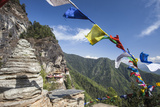 The Colorful Tibetan Prayer Flags Invite the Faithful to Visit the Taktsang Monastery  Paro  Bhutan