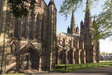 Lichfield Cathedral  West Spires and North Front  Lichfield  Staffordshire  England  United Kingdom