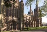 Lichfield Cathedral  West Spires and North Front  Lichfield  Staffordshire  England  United Kingdom
