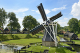 Traditional Dutch Windmill  Zuiderzee Open Air Museum  Lake Ijssel