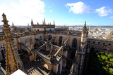 Seville Cathedral Seen from Giralda Bell Tower  Seville  Andalucia  Spain
