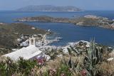 Gialos from Chora  Ios  Cyclades  Greek Islands  Greece