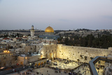 View over the Western Wall (Wailing Wall) and the Dome of the Rock Mosque  Jerusalem  Israel