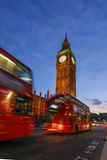 Typical Double Decker Bus and Big Ben  Westminster  London  England  United Kingdom  Europe