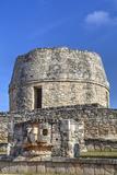Templo Redondo (Round Temple)  Mayapan  Mayan Archaeological Site  Yucatan  Mexico  North America
