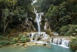 Kuang Si Waterfall  Luang Prabang  Laos  Indochina  Southeast Asia  Asia
