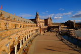 Plaza De Espana  Built for the Ibero-American Exposition of 1929  Seville  Andalucia  Spain