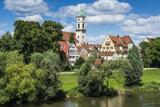 Stadtamhof  Old Quarter in Regensburg  Bavaria  Germany