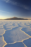 An Andean Volcano Rises Above the Salar De Uyuni