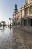 Town Hall Square on an Autumn Early Morning  Cartagena  Murcia Region  Spain  Europe