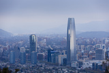 View over the Gran Torre Santiago from Cerro San Cristobal  Santiago  Chile  South America