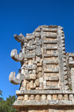 Chac Rain God Masks  the Palace  Xlapak  Mayan Archaeological Site  Yucatan  Mexico  North America