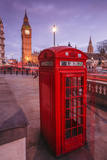 Typical English Red Telephone Box Near Big Ben  Westminster  London  England  UK