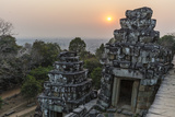 Sunset View from Phnom Bakheng  Angkor  UNESCO World Heritage Site  Siem Reap  Cambodia  Indochina