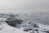 Igloos Outside the Arctic Hotel in Ilulissat  Greenland  Denmark  Polar Regions