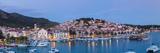 Elevated View over the Picturesque Harbour Town of Hvar  Hvar  Dalmatia  Croatia