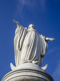 Virgin Mary Statue at Cerro San Cristobal  Santiago  Chile  South America