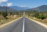 Long Straight Road in Central Malawi  Africa