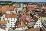 View over Regensburg from the Tower of the Church of the Holy Trinity  Regensburg  Bavaria  Germany