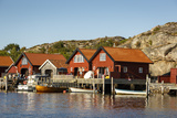 Timber Houses  Grebbestad  Bohuslan Region  West Coast  Sweden  Scandinavia  Europe