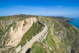 Road Connecting the Narrow Isthmus of Greater and Little Sark  Channel Islands  United Kingdom