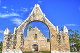 The Ruined Church of Pixila  Completed in 1797  Cuauhtemoc  Yucatan  Mexico  North America