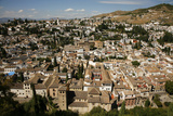 View over Granada from the Alcazaba  Alhambra Palace  Granada  Andalucia  Spain  Europe