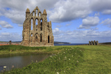 Ruins of Whitby Abbey with Abbey Pond  Whitby  North Yorkshire  England  United Kingdom