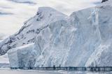 Tidewater Glacier Face Detail in Neko Harbor  Antarctica  Polar Regions