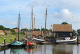 Boats in a Fishing Port at Zuiderzee Open Air Museum