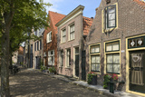 Street of Uniquely Individual Dutch Houses  Zuider Havendijk  Enkhuizen  North Holland  Netherlands