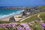 Bedruthan Steps  Newquay  Cornwall  England  United Kingdom