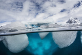 Above and Below Water View of Danco Island  Errera Channel  Antarctica  Polar Regions