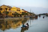 Boats at the Thu Bon River  Hoi An  Vietnam  Indochina  Southeast Asia  Asia