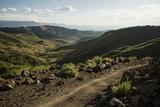 View over Landscape Near Lalibela at Dusk  Ethiopia  Africa