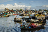 Cai Rang Floating Market at the Mekong Delta  Can Tho  Vietnam  Indochina  Southeast Asia  Asia