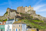 Castle of Mont Orgueil  Jersey  Channel Islands  United Kingdom