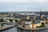 Skyline View over Gamla Stan  Riddarholmen and Riddarfjarden  Stockholm  Sweden