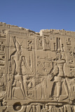 Bas-Relief of Figures and Hieroglyphs  Karnak Temple  Luxor  Thebes  Egypt  North Africa  Africa