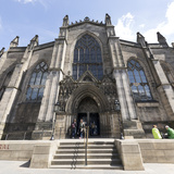 St Giles' Cathedral West Front  Edinburgh  Scotland  United Kingdom