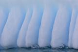 Glacial Iceberg Detail at Cuverville Island  Antarctica  Polar Regions