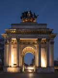 Exterior of Wellington Arch at Night  Hyde Park Corner  London  England  United Kingdom  Europe