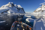 The Lindblad Expeditions Ship National Geographic Explorer in the Lemaire Channel  Antarctica